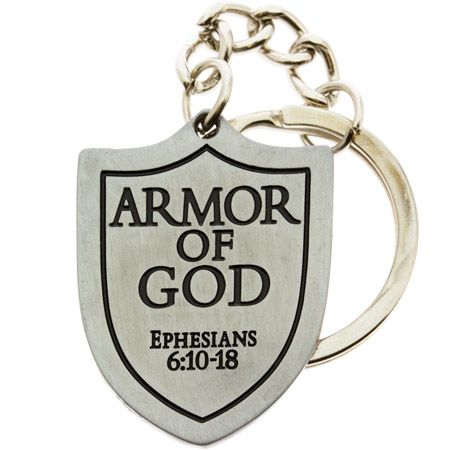 Armor of God Shield Keychain