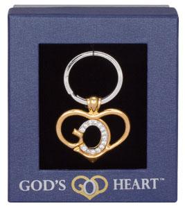 God's Heart Keychain