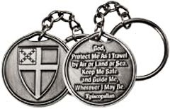 Episcopalian Travel Prayer Key Ring