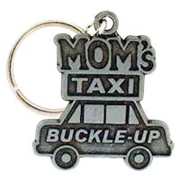 Mom's Taxi Buckle Up! Keychain