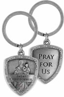 St. Christopher Pray For Us Key Chain