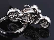 Motorcycle Key Chain Chrome
