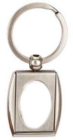 Personal Photo Key Ring Silver  Deluxe