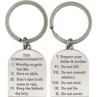 10 Commandments Keychain Pewter