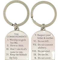 10 Commandments Pewter Keychain