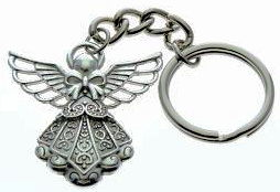 Guardian Angel Keychain Silver or Gold