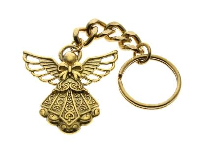 Guardian Angel Keychain Gold
