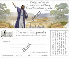 Prayer Request  Bookmark Cards -100