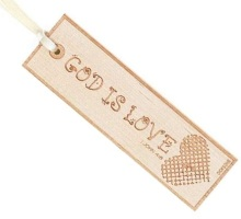 God is Love Wooden Bookmark