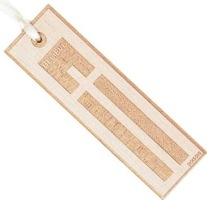 Believe Cross Wooden Bookmark