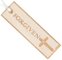 Forgiven Cross Wooden Bookmark