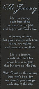 The Journey Faux Leather Bookmark Text