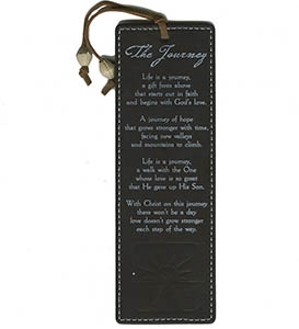The Journey Leather Bookmark