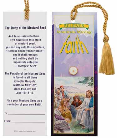 Faith Mustard Seed Bookmark and Pin Set