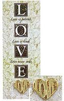Love Heart Pin on Bookmark Set