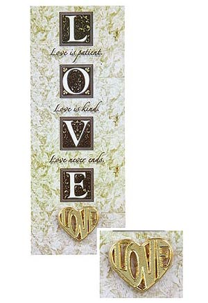 Love Heart Pin & Bookmark Set