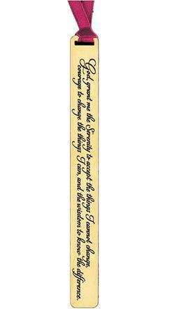 Serenity Prayer Golden Deluxe Bookmark