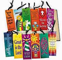 Scripture Bookmarks with Ribbons Religious