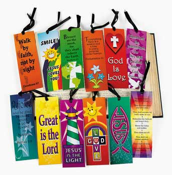 Religious Scripture Bookmark with Ribbon Assorted