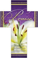 Easter Cross Bookmark - Praise (25)