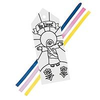 'He Lives' Color It Yourself Bookmark (Pkg of 12)