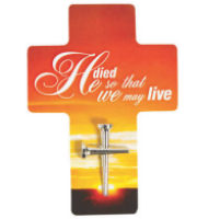Nail Cross on Easter Cross Bookmarks Pack of 4