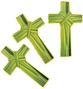 Palm Cross Shaped Bookmark (Pkg of 24)