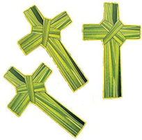 Palm Cross Shaped Bookmark -  Pack of 24