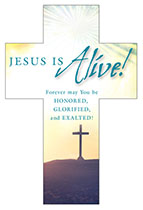 Easter Cross - Jesus Is Alive Bookmark (Pkg of 25)