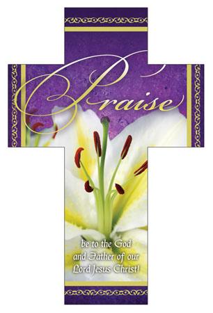 Praise Easter Cross Bookmark (Pkg of 25)