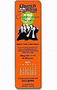 Round Corner Custom Church Bookmark  (500 Min)