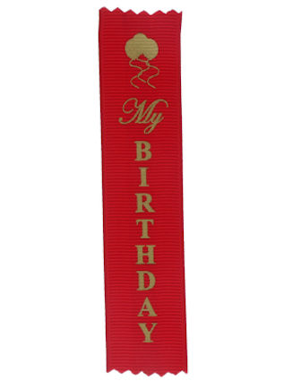 My Birthday Adhesive Backed Personal Ribbons (Pkg of 20)