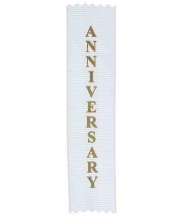 Anniversary Adhesive Backed Personal Ribbon (Pkg of 20)