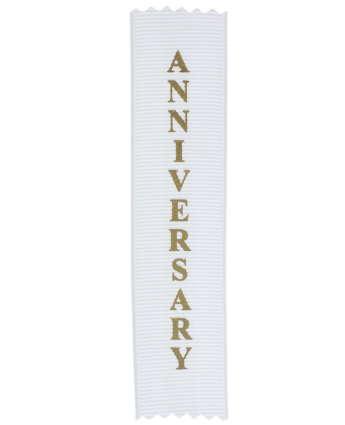Anniversary Adhesive Backed Personal Ribbon (Pkg of 20)