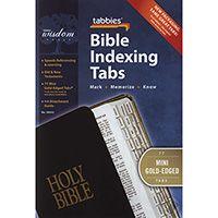 Mini Gold Edge Bible Tabs