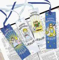 Happy Birthday Jesus! Bookmarks & Ribbon