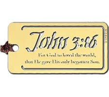 John 3:16 Metal Bookmark