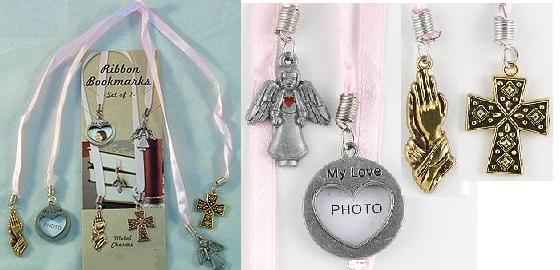 how to make ribbon bookmarks with charms