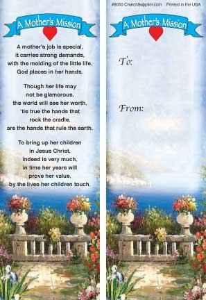 Mother's Mission Bookmark (Pkg of 12)