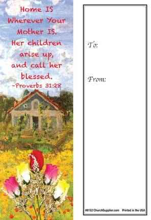 Mother's Day Bookmark - Home is Wherever Your Mother is (Pkg of 25)