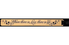 Where there is Love there is Life Bookmark