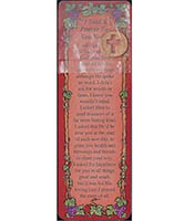 I Said a Prayer for You Today Cross Penny and Bookmark