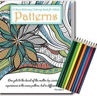Patterns Adult Coloring Book & Pencils Set