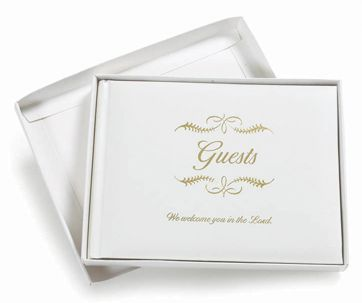 Guest Sign-In Book for Weddings, Funerals