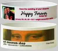 4 Color Photo Rubber Bracelets