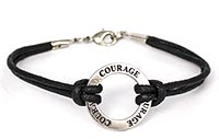 #3933 Courage Circle Corded Bracelet