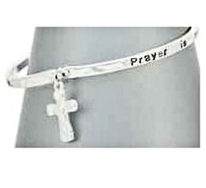 Prayer is Answer Bracelet Dangle Cross