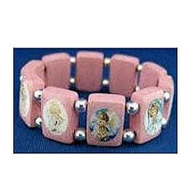 Pink Angels Picture Bracelet Wood