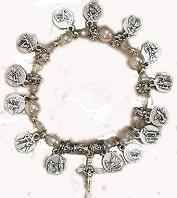 Stations of The Cross Charm Bracelet Silver