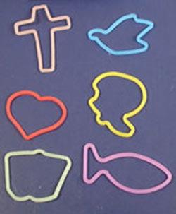 Religious Symbols Crazy Bands (Pkg of 12)